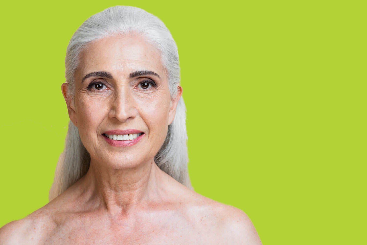 senior woman with rejuvenated skin from med spa services