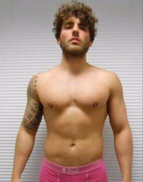 young man before trt, semi shape