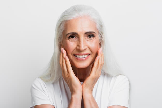 portrait of 70 year old, beauty enhancement services